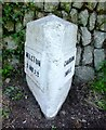SW6439 : Old Milestone by the B3303, south of Camborne by Rosy Hanns