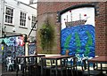TG2308 : The Lamb Inn - mural by Evelyn Simak