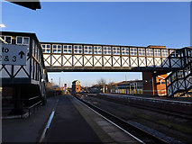 TA2609 : The fine footbridge at Grimsby Town station by John Lucas