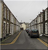 SS7597 : Two rows of stone houses, Charles Street, Neath by Jaggery
