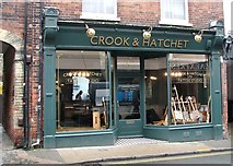 TG2208 : The shop window of Crook & Hatchet by Evelyn Simak