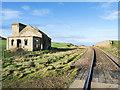 NZ6921 : Single track railway passing Guibal fan house by Trevor Littlewood