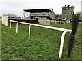 TF9228 : Television camera tower and Prince of Wales Grandstand at Fakenham Racecourse by Richard Humphrey