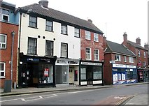 TG2309 : 161-163 Magdalen Street shops and flats by Evelyn Simak