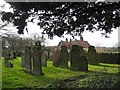SK7472 : Headstones in the East Markham churchyard  by Graham Hogg