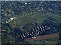 TQ2057 : Epsom Downs racecourse from the air by Thomas Nugent