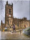 SJ8398 : Mahatma Gandhi Statue, Manchester by David Dixon