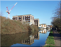 TQ1883 : Canalside Buildings at Alperton by Des Blenkinsopp