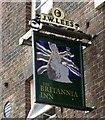 SD8605 : Sign of The Britannia Inn by Gerald England