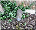 SK6033 : Concrete marker pillar with a 9 on it by Andrew Tatlow