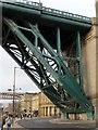 NZ2563 : Quayside runs under the Tyne Bridge by Steve Daniels