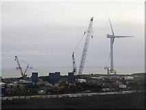 NT3698 : Wind turbine, Fife Energy Park by Becky Williamson