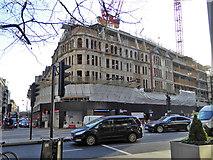 TQ2779 : Building site, Knightsbridge, SW1 by Robin Webster