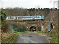 SE1518 : Railway bridge, Peace Pit Lane by Stephen Craven