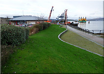 NS2876 : Cruise ship centre construction site by Thomas Nugent