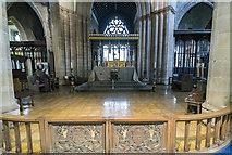 SK3871 : Crossing, St Mary & All Saints' church, Chesterfield by J.Hannan