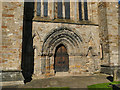 NN7801 : West doors of Dunblane cathedral by Stephen Craven
