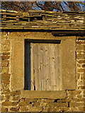 NY9539 : Old window at Broad Law (first floor) by Mike Quinn
