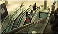 TQ0575 : Escalators, Heathrow terminal 5 by Derek Harper