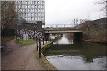 TQ2182 : Grand Union Canal towards Old Oak Lane Bridge by Ian S