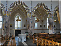 NS5964 : St Andrew's Cathedral, Glasgow - nave and font by Stephen Craven