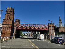 NS5964 : St Enoch railway bridge crossing Clyde Street by Stephen Craven