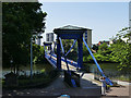 NS5964 : St Andrew's Suspension Bridge - Glasgow Green end by Stephen Craven
