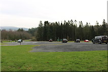 NX4564 : Car Park at Kirroughtree Visitor Centre by Billy McCrorie