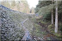 NX4465 : Dam Wall, Bruntis Loch by Billy McCrorie