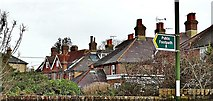 TQ2115 : Henfield, Sussex - rear view of houses on Broomfields Road by Ian Cunliffe