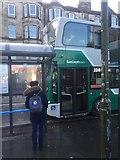 NT2774 : East Lothian bound bus, London Road by Richard Webb