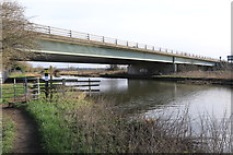 SK5815 : A6 bridge over the River Soar by Andrew Abbott