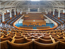 SD7109 : Victoria Hall - a view from the gallery by David Dixon