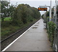 ST1580 : Electronic departures display on Rhiwbina station, Cardiff by Jaggery