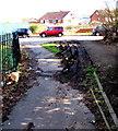 ST3090 : Tyre tracks in mud, Malpas, Newport by Jaggery