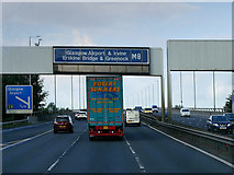 NS4865 : Sign Gantry over the M8 at Arkleston Interchange by David Dixon