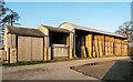 SE7289 : Dutch barn with straw bales by Trevor Littlewood