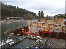 NY4724 : The footings at the east (village) end of the new Pooley Bridge by Michael Earnshaw