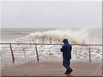 J3730 : Breaking wave on the Central Promenade at Newcastle by Eric Jones