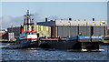 J3475 : Tug 'Goliath' and barge, Belfast by Rossographer