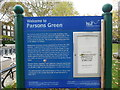 TQ2576 : Information Board at Parsons Green by David Hillas