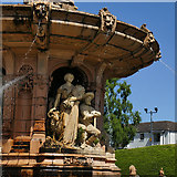 NS6064 : The Doulton Fountain, Glasgow Green - detail by Stephen Craven