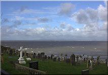 SD4161 : St Peter's church graveyard, looking westwards by Robert Eva
