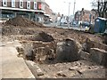 SO8554 : Excavations on Cathedral roundabout by Philip Halling