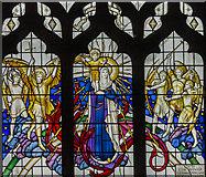 SK3871 : St Mary & All Saints' church, Chesterfield, window by J.Hannan