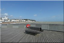 TQ8109 : Bench on Hastings Pier by DS Pugh