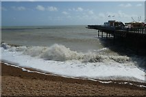 TQ8109 : Beach and pier by DS Pugh