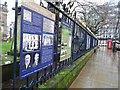 SP0686 : Information boards on railings by Philip Halling