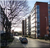 SK5803 : Newarke Close in Leicester by Mat Fascione