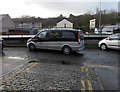 ST3089 : Private ambulance parked opposite cobbled Jewell Lane, Crindau, Newport by Jaggery